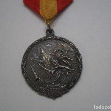 Militaria: MEDALLA PASO DEL ESTRECHO EN PLATA, CON SU CINTA ORIGINAL Y PASADOR. Lote 192239977