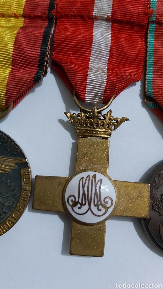Militaria: PASADOR 3 CONDECORACIONES. ORDEN MEHDAUIA. CRUZ DEL MERITO DIVISION AZUL. ÁFRICA ALFONSO XIII - Foto 8 - 192596437