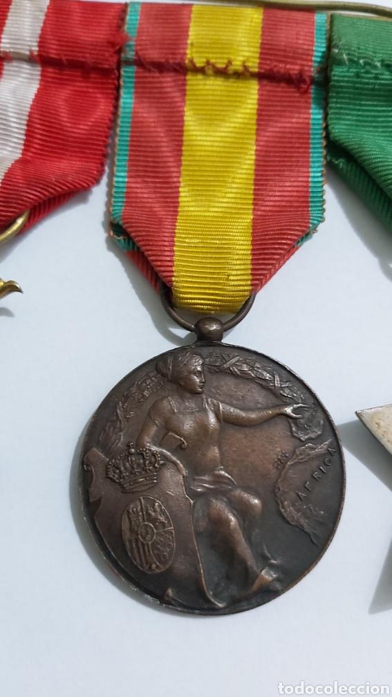 Militaria: PASADOR 3 CONDECORACIONES. ORDEN MEHDAUIA. CRUZ DEL MERITO DIVISION AZUL. ÁFRICA ALFONSO XIII - Foto 9 - 192596437
