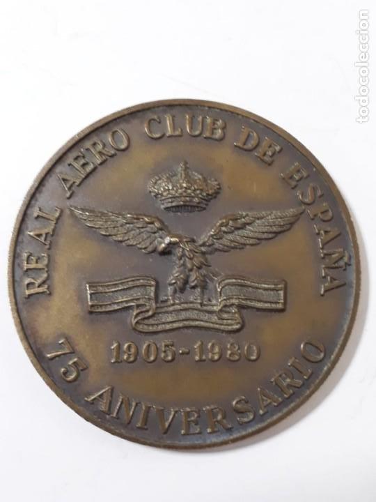 MEDALLA REAL AERO CLUB DE ESPAÑA.1905 - 1980 (Militar - Medallas Españolas Originales )