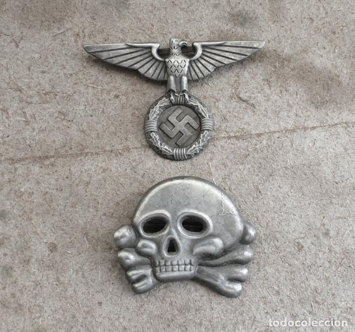 WW2 ÁGUILA Y DEL CALAVERA DANZIGER TOTENKOPF SS1923. PARA GORRA DE PLATO (Militar - Reproducciones y Réplicas de Medallas )