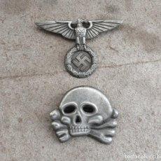 Militaria: WW2 ÁGUILA Y DEL CALAVERA DANZIGER TOTENKOPF SS1923. PARA GORRA DE PLATO. Lote 206160862