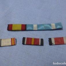 Militaria: * ANTIGUO PASADOR DE MEDALLAS ESPAÑOLAS DE DIARIO. ORIGINAL. DIVISION AZUL. ZX. Lote 194092696