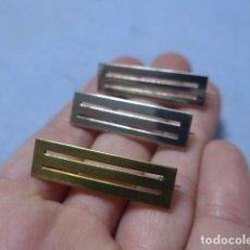 Militaria: * LOTE 3 ANTIGUO PRENDEDOR O PASADOR DE MEDALLA ESPAÑOLA, ORIGINAL. 1 DORADO Y 2 PLATEADO. ZX. Lote 194093050