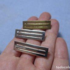 Militaria: * LOTE 3 ANTIGUO PRENDEDOR O PASADOR DE MEDALLA ESPAÑOLA, ORIGINAL. 1 DORADO Y 2 PLATEADO. ZX. Lote 194093092