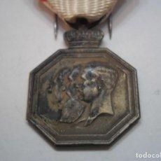 Militaria: BELGICA-MEDALLA CONMEMORATIVA GUERRA INDEPENDENCIA 1930-CON SU CINTA ORIGINAL. Lote 194144011