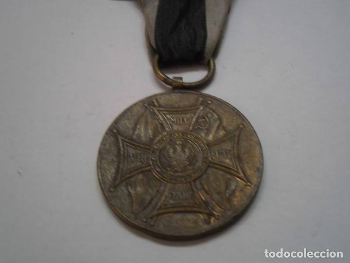 Militaria: Polonia-Medalla Bronce al Merito en el Campo de la Gloria-1 modelo con su cinta-rarisima pieza - Foto 3 - 194144812
