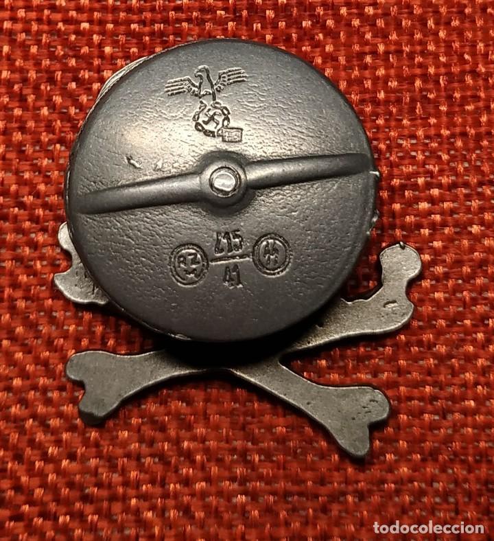 Militaria: Calavera Waffen SS. Metalica. Medidas 38 x 38 mm. Con marcajes. - Foto 2 - 194149063