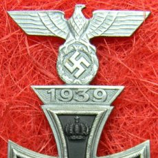 Militaria: CRUZ DE HIERRO DE 1ª CLASE IRON CROSS. EISERNES KREUZ 1 KLASSE + SPANGE 1939. MEDIDAS 72 X 44 MM. Lote 194149292