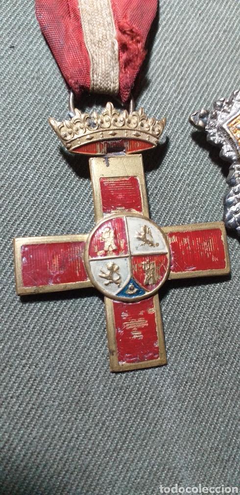 Militaria: Medallas guerra civil .Mérito militar y Cruz de guerra. - Foto 3 - 194240425