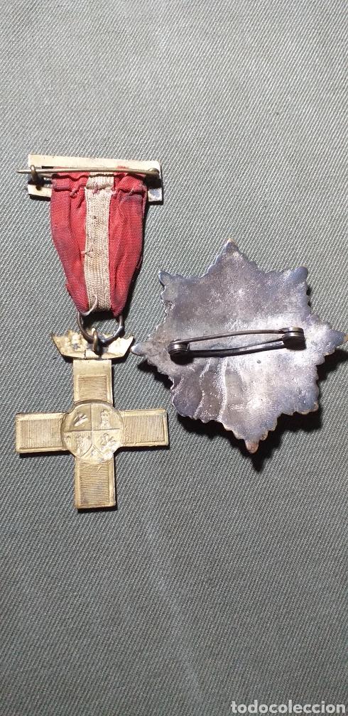 Militaria: Medallas guerra civil .Mérito militar y Cruz de guerra. - Foto 4 - 194240425