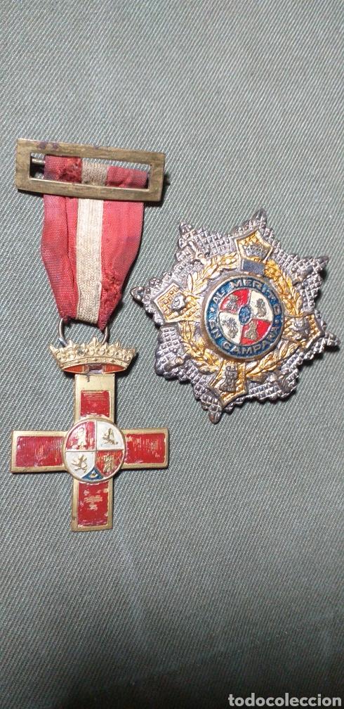 MEDALLAS GUERRA CIVIL .MÉRITO MILITAR Y CRUZ DE GUERRA. (Militar - Medallas Españolas Originales )