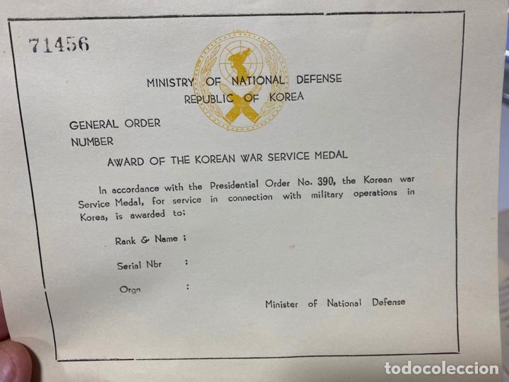Militaria: LOTE DE ANTIGUAS INSIGNIAS Y DOCUMENTOS MILITARES , DANMARK KOREA - Foto 3 - 194265813