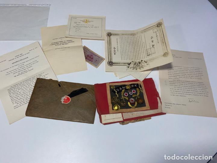 Militaria: LOTE DE ANTIGUAS INSIGNIAS Y DOCUMENTOS MILITARES , DANMARK KOREA - Foto 6 - 194265813
