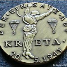 Militaria: GRAN MEDALLA MEDALLON DE KARL GOETZ BRONZE MACIZO CONMEMORATIVO BATALLA DE KRETA 1941 NAZI III REICH. Lote 194307051
