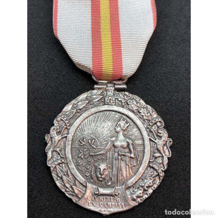 MEDALLA MILITAR INDIVIDUAL AL MERITO EN CAMPAÑA ESPAÑA EPOCA FRANQUISTA GUERRA CIVIL ESPAÑOLA (Militar - Reproducciones y Réplicas de Medallas )