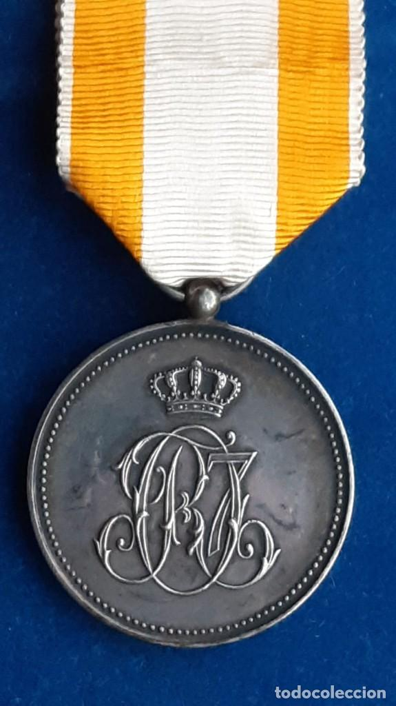 Militaria: MEDALLA DE PLATA DE LA REAL ORDEN DE ISABEL LA CATOLICA - ALFONSO XIII - 1907 A 1931 - Foto 3 - 194326212