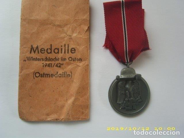 Militaria: Medalla Condecoracion Alemana frente del este Original - Ostmedaille - Foto 2 - 194334986