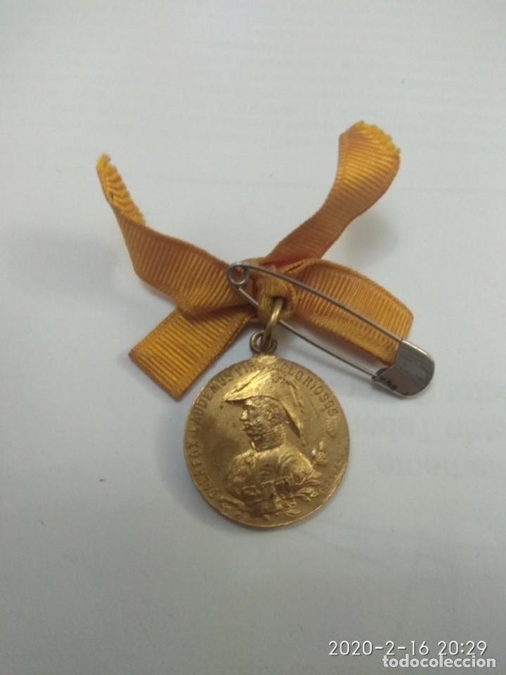 MEDALLA PALAFOX.MEDALLA 1908. CENTENARIO DEL SITIO DE ZARAGOZA. LAUDEMUS VIROS GLORIOSOS (Militar - Medallas Españolas Originales )