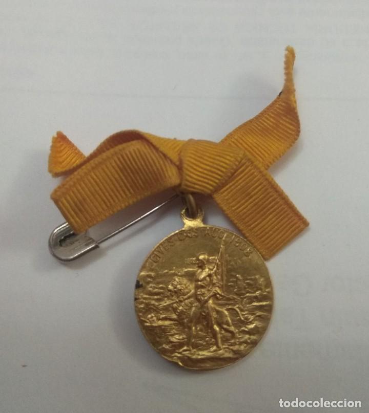 Militaria: Medalla palafox.medalla 1908. Centenario del sitio de Zaragoza. Laudemus viros gloriosos - Foto 2 - 194339708