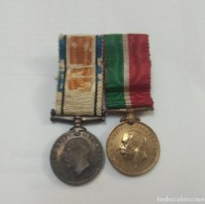 Militaria: MEDALLAS CONMEMORATIVAS CAMPAÑA GEORGIUS V. BRITÁNICA 1914 - 1918 CON CINTA 1 GUERRA MUNDIAL. . Lote 194344363