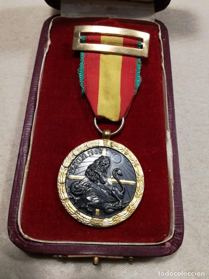 Militaria: Medalla de la campaña 1936-39. Guerra Civil española, Legión Cóndor - Foto 7 - 194381731