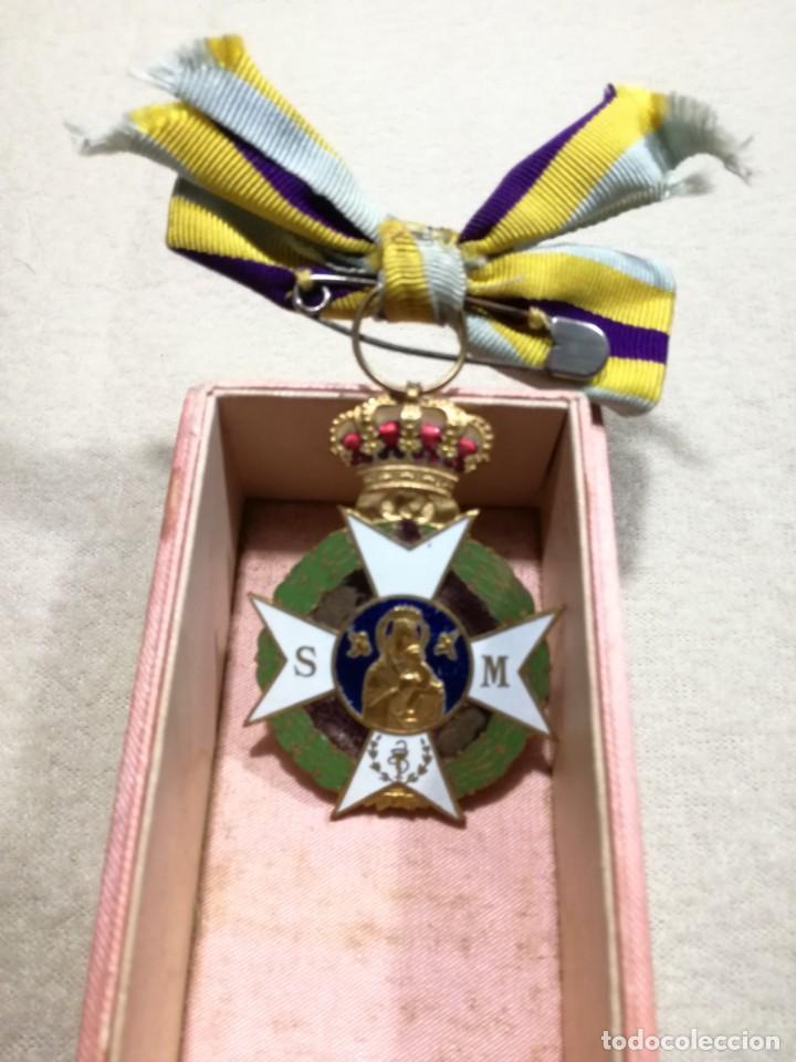 MEDALLA ASOCIACIÓN DE SEÑORAS DE SANIDAD MILITAR 1930-40 (Militar - Medallas Españolas Originales )