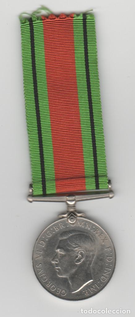 INGLATERRA- 1939-1945-THE DEFENCE MEDAL (Militar - Medallas Internacionales Originales)