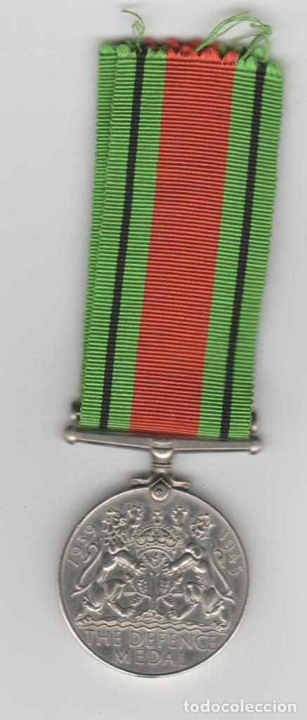 Militaria: INGLATERRA- 1939-1945-THE DEFENCE MEDAL - Foto 2 - 194406038