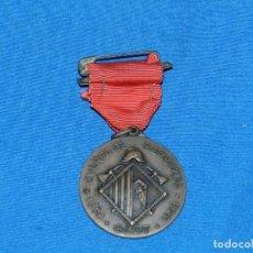 Militaria: (MCAJÓN1) MEDALLA CUERPO DE BOMBEROS OLOT 1958, POCA SSEÑALES DE USO. Lote 194491478