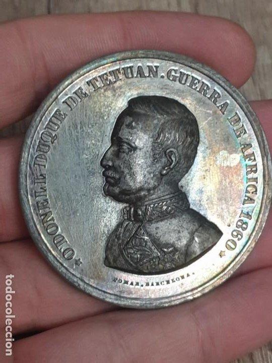 MEDALLA GUERRA DE AFRICA 1860 O'DONELL DUQUE TETUAN (Militar - Medallas Españolas Originales )