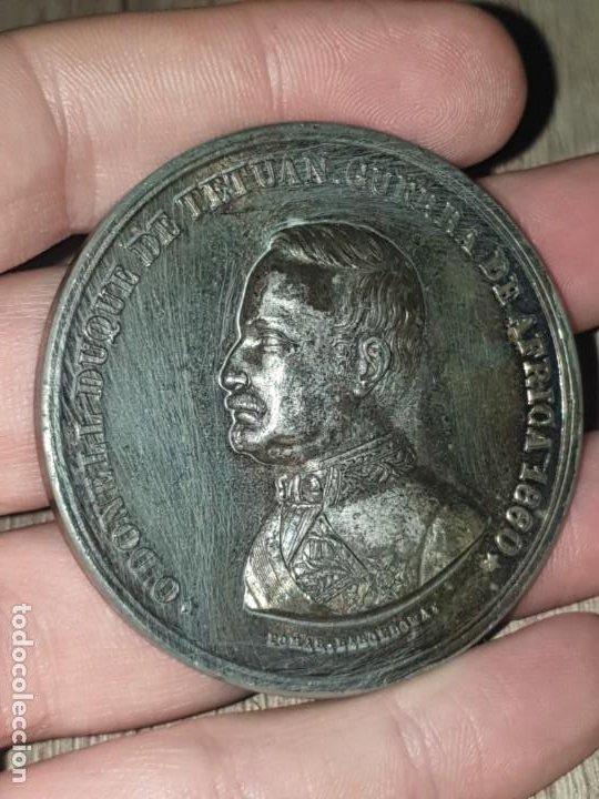 Militaria: Medalla guerra de africa 1860 odonell duque tetuan - Foto 3 - 194509346