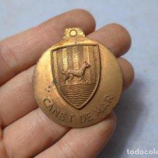 Militaria: * ANTIGUA MEDALLA DE CANET DE MAR, DE POLICIA O AYUNTAMIENTO, ORIGINAL. ZX. Lote 194536307