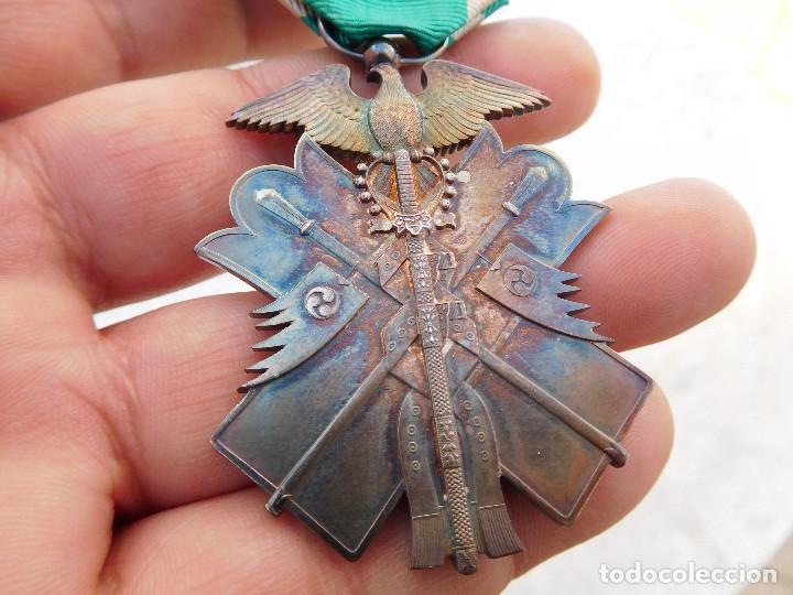 Militaria: Medalla orden japonesa golden kite con insignia y caja original plata Japon WW2 - Foto 6 - 194596866