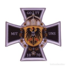 Militaria: INSIGNIA PIN CRUZ ALEMANIA IMPERIAL GOTT MIT UNS 1870. Lote 194688601