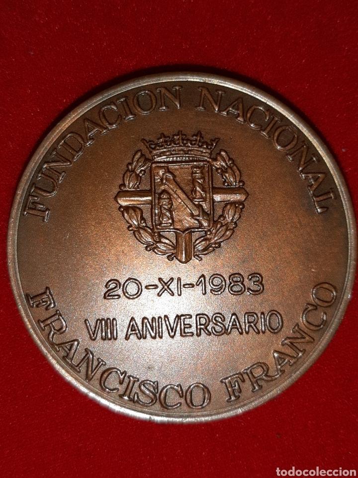 Militaria: MEDALLON FUNDACION FRANCISCO FRANCO - Foto 2 - 194727672
