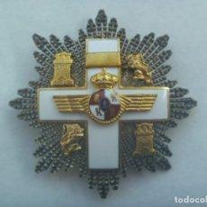 Militaria: AVIACION : GRAN PLACA DEL MERITO AERONAUTICO DISTINTIVO BLANCO. EPOCA MONARQUIA. PLATA Y ESMALTE. Lote 194728756