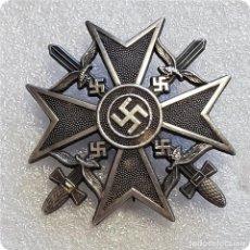 Militaria: INSIGNIA MEDALLA PLACA SPANIENKREUZ.CRUZ ESPAÑOLA ESPADAS.LEGION CONDOR GUERRA CIVIL NAZI EMBLEMA. Lote 194739882