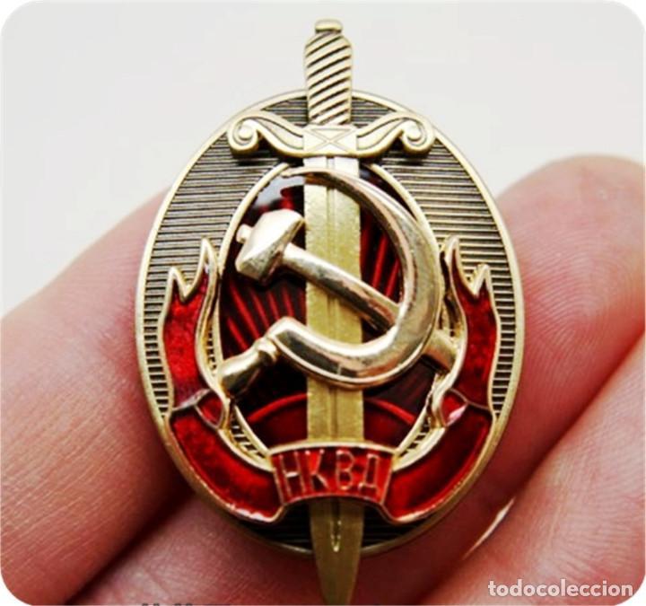 Militaria: Agente honorario de NKVD a principios de KGB insignia de la Policía Secreta Rusa Soviética - Foto 12 - 194769685