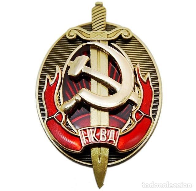 Militaria: Agente honorario de NKVD a principios de KGB insignia de la Policía Secreta Rusa Soviética - Foto 6 - 194769685