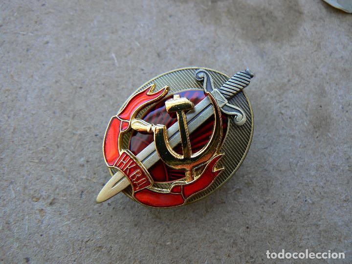 Militaria: Agente honorario de NKVD a principios de KGB insignia de la Policía Secreta Rusa Soviética - Foto 11 - 194769685