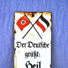 Militaria: ENAMEL SIGN-3ER REICH ALEMANIA. Lote 194917411