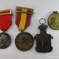 Militaria: LOTE MEDALLAS ÉPOCA ALFONSO XIII. VER FOTOS. Lote 194948370