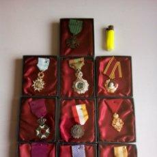 Militaria: LOTE 10 MEDALLAS, RÉPLICAS. Lote 194974260
