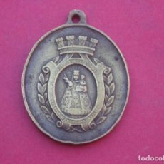 Militaria: MEDALLA VIRGEN DE COVADONGA ASTURIAS AÑO 1869. GUERRA DE CUBA. MUY RARA.. Lote 195051098