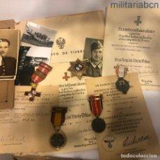 Militaria: CONJUNTO DE UN SARGENTO DE LA DIVISIÓN AZUL. MEDALLAS, DOCUMENTOS, CONCESIONES Y FOTOGRAFÍAS. Lote 195082075