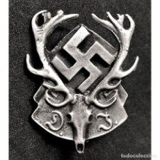 Militaria: INSIGNIA ASOCIACION ALEMANA DE CAZA ALEMANIA TERCER REICH PARTIDO NAZI NSDAP. Lote 195116971