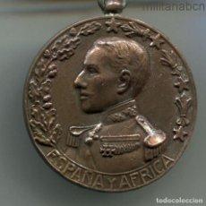 Militaria: MEDALLA DE ESPAÑA Y ÁFRICA 1912. BRONCE, CIRCULAR DE 35 MM.. Lote 195212627