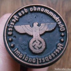 Militaria: TAMPON SELLO , WEHRMACHT , WAFFEN SS ALEMANIA TERCER REICH 11CM. Lote 195213532
