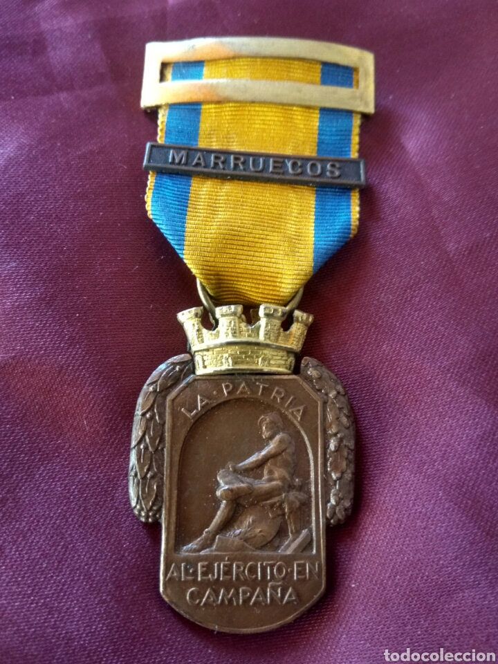 MEDALLA CAMPAÑA ÁFRICA REPÚBLICA VARIANTE (Militar - Medallas Españolas Originales )